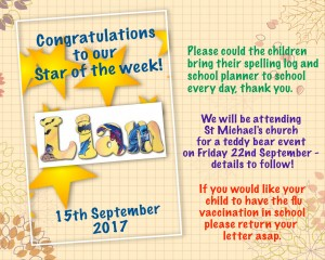 star of the week 15-9