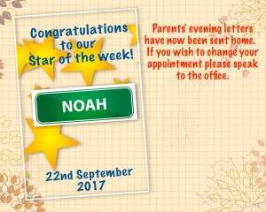star of the week 22nd Sep