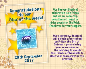 star of the week 29th Sep