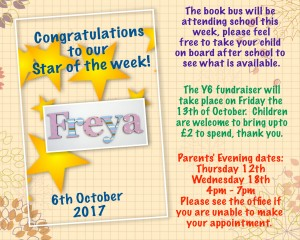 star of the week 6th Oct